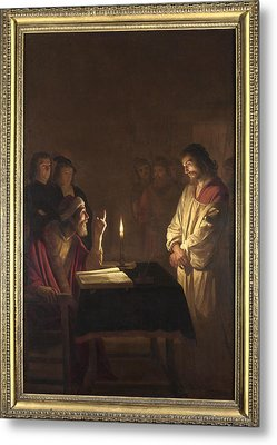 Christ Before The High Priest Metal Print