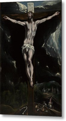 Christ On The Cross Metal Print by El Greco