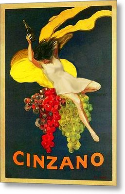 Cinzano Girl Metal Print by Nick Diemel