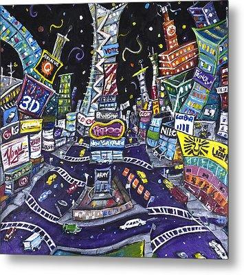 City Of Lights Metal Print by Jason Gluskin