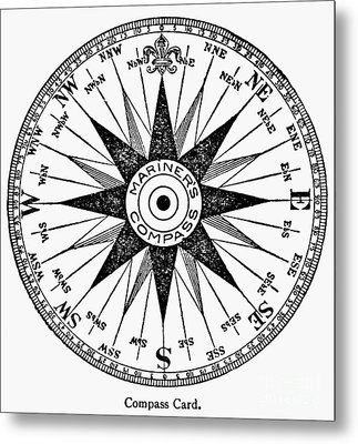 Compass Rose Metal Print by Granger