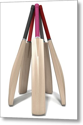 Cricket Bat Circle Metal Print