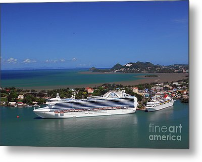Metal Print featuring the photograph Cruise Port by Gary Wonning