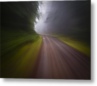 Curve In The Road Blur Metal Print by Ed Book