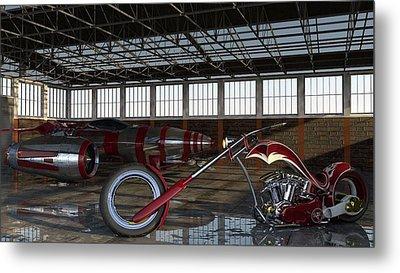 Metal Print featuring the photograph Custom Chopper  by Louis Ferreira