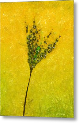 Dandelion Flower - Da Metal Print by Leonardo Digenio