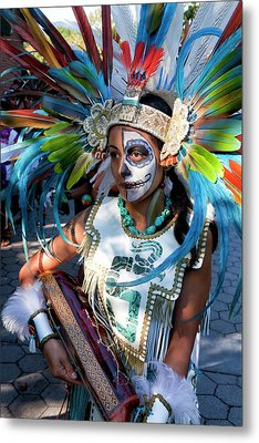 Dia De Los Muertos - Day Of The Dead 10 15 11 Procession Metal Print by Robert Ullmann