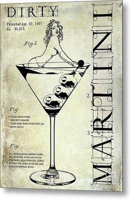 Dirty Martini Patent Metal Print by Jon Neidert