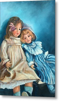 Dolls At Rest Metal Print by Sally Seago