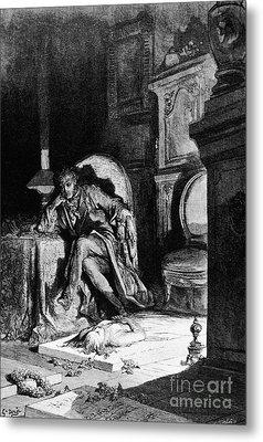 DorÉ: The Raven, 1882 Metal Print by Granger