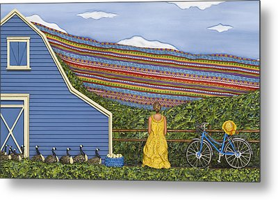 Metal Print featuring the sculpture Dream Cycle by Anne Klar