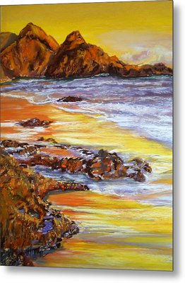 Ebb And Flow Metal Print by Cathy Weaver
