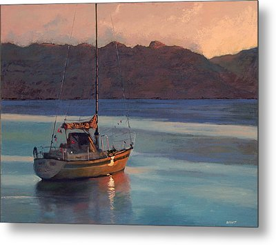 End Of Day Metal Print by Robert Bissett