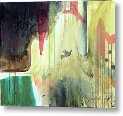 Metal Print featuring the painting Envisage by Robin Maria Pedrero