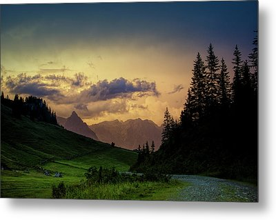 Evening In The Alps Metal Print by Nailia Schwarz