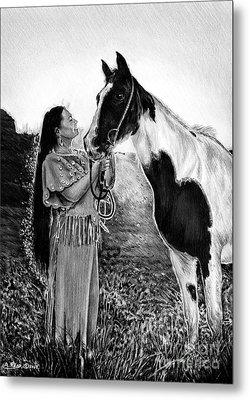 Everlasting Love A Maiden And Spot Metal Print
