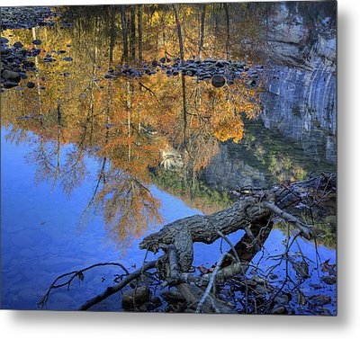 Fall Color At Big Bluff Metal Print by Michael Dougherty