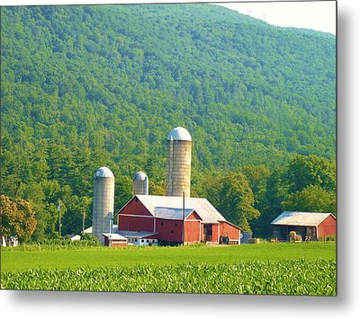 Farm In Belleville Pa Metal Print