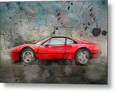 Metal Print featuring the photograph Ferrari 308 by Joel Witmeyer