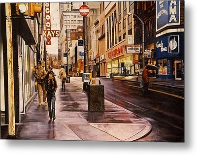 Fifth Avenue In The 80s Metal Print by James Guentner