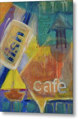 Metal Print featuring the painting Fish Cafe by Susan Stone