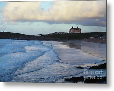 Metal Print featuring the photograph Fistral Beach by Nicholas Burningham