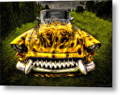 Flames One Metal Print by Jerry Golab
