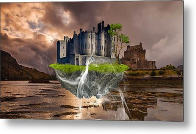 Floating Castle Metal Print by Marvin Blaine