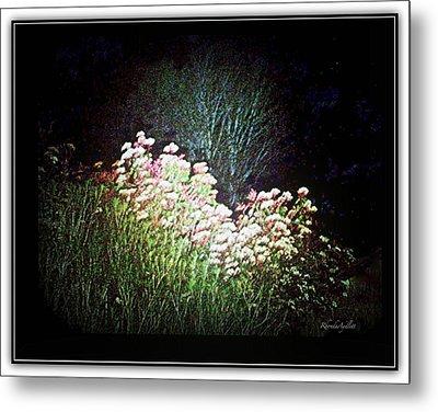 Flowers At Night Metal Print