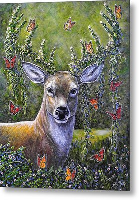 Forest Monarch Metal Print by Gail Butler
