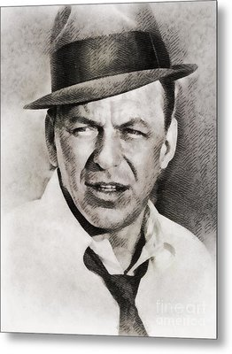 Frank Sinatra, Hollywood Legend By John Springfield Metal Print