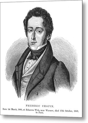 Frederic Chopin (1810-1849) Metal Print by Granger