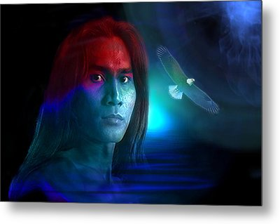 Metal Print featuring the digital art Free Spirit by Shadowlea Is