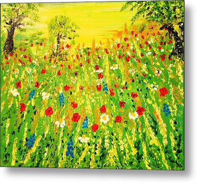 Metal Print featuring the painting From The Valley by Evelina Popilian