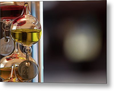 Metal Print featuring the photograph Galileo Thermometer by Jeremy Lavender Photography