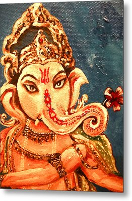 Ganesh Metal Print by Sabrina Phillips