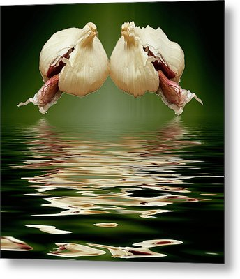 Metal Print featuring the photograph Garlic Cloves Of Garlic by David French