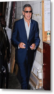 George Clooney, Leaves The Live With Metal Print