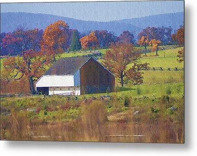 Gettysburg Barn Metal Print by Bill Cannon