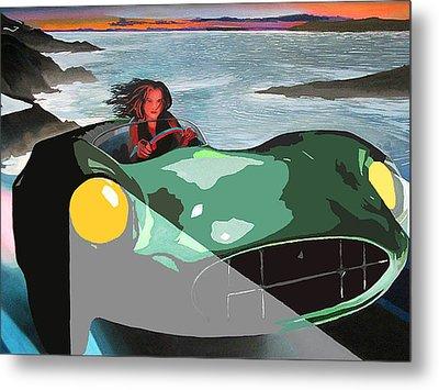 Girl In Green Aston Metal Print by Geoff Greene