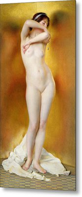 Glow Of Gold Gleam Of Pearl Metal Print