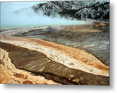 Grand Prismatic Pool In Yellowstone National Park Metal Print by Pierre Leclerc Photography
