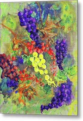 Grapes On The Vine Art 3 Metal Print by Ken Figurski