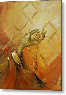 Metal Print featuring the painting Gyan Mudra by Dina Dargo
