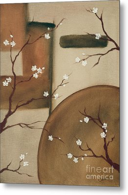 Metal Print featuring the painting Happy Happy by Cathy Cleveland