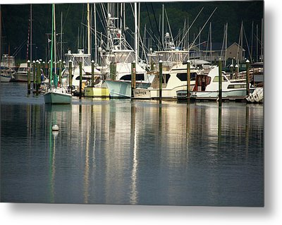 Harbor Reflections Metal Print