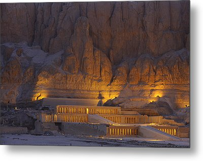 Hatshepsuts Mortuary Temple Rises Metal Print by Kenneth Garrett