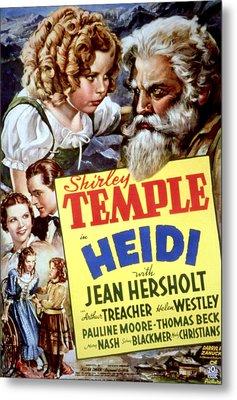 Heidi, Shirley Temple, Jean Hersholt Metal Print by Everett