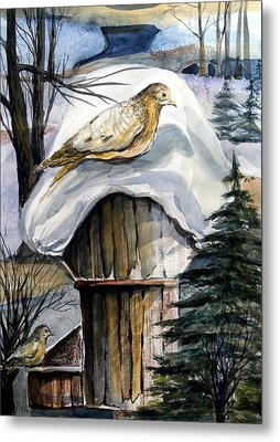 His Eye Is On The Sparrow Metal Print by Mindy Newman