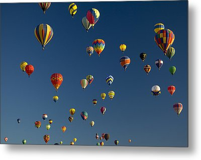 Hot Air Balloons Fly In A Hot Air Metal Print